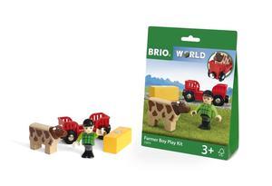 BRIO World Spielpäckchen Bauer mit Kuh