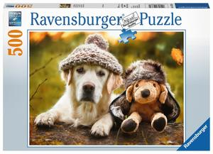 Ravensburger Puzzle Hund mit Mütze