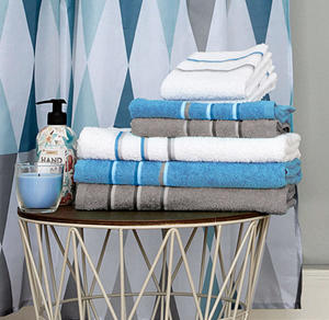 Home Handtuch mit farbiger Bordüre, ca. 50x90cm