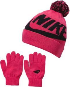 Baby Set SWOOSH POM: Mütze + Handschuhe