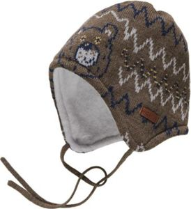 Mütze zum Binden Gr. 47 Jungen Baby
