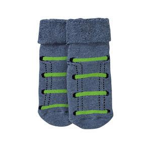 Baby-Jungen-ABS-Söckchen mit Schnürsenkel-Design, 1er Pack