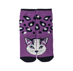 Mädchen-ABS-Socken mit Katzengesicht