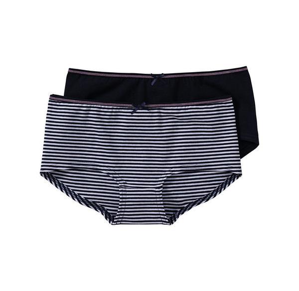 Mädchen-Panty mit Zierschleife, 2er Pack