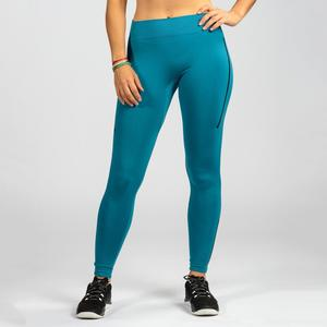 Leggings 500 Crosstraining Damen blau/schwarz