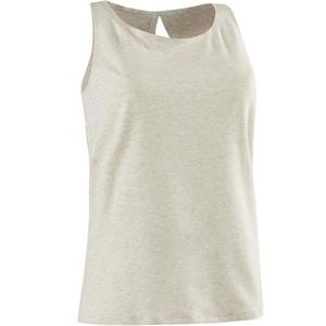 Tank-Top 520 Gym & Pilates Damen beige meliert