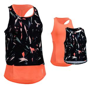 3-in-1-Top FTA 520 Cardio Fitness Damen pfirsich mit Print