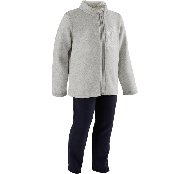 Trainingsanzug Warm´y Zip 100 Babyturnen grau