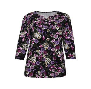 Laura Torelli plus (Gr. 44-58) Damen-Shirt mit raffinierter Schnürung, große Größen