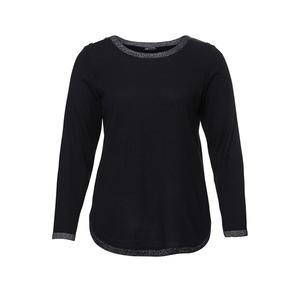 Laura Torelli plus (Gr. 44-58) Damen-Pullover mit Glitzer-Bündchen, große Größen