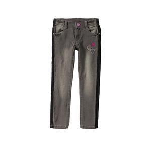 Kids Mädchen-Jeans mit Kontrast-Streifen aus Samt