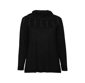 Laura Torelli plus (Gr. 44-58) Damen-Pullover mit verziertem Rollkragen, große Größen