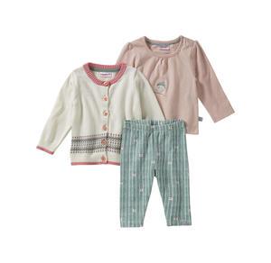 Liegelind Baby-Mädchen-Set mit Strickjacke, 3-teilig