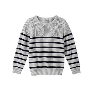 Kids Jungen-Pullover mit schickem Zopfmuster