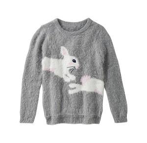 Kids Mädchen-Pullover mit Hasen-Motiv