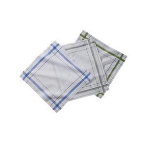 Home Herren-Taschentuch mit schickem Rand, 3er Pack, ca. 39x39cm