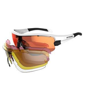 Fahrradbrille Roadr 900 Erwachsene Red Pack schwarz 4 auswechselbare Gläser