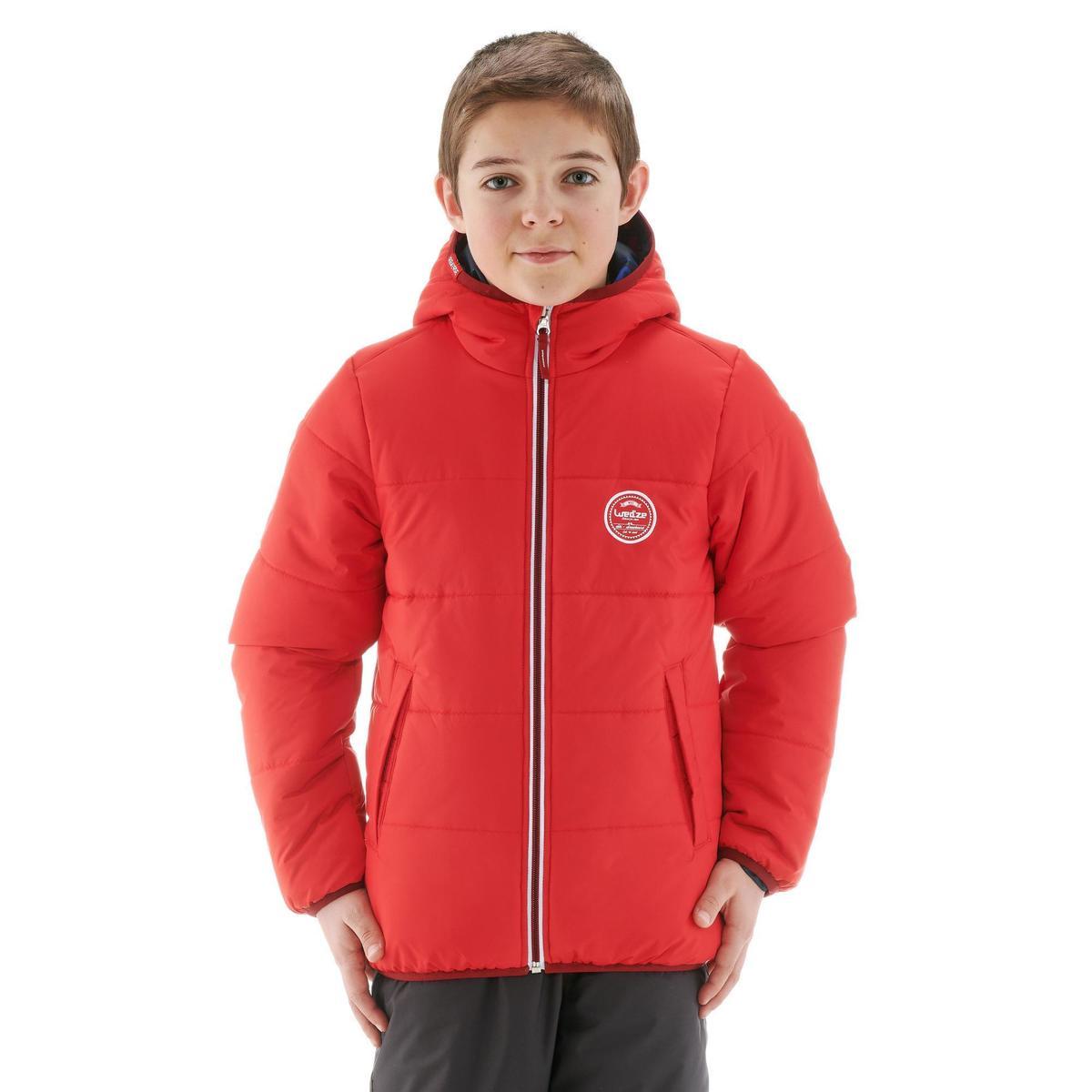 Bild 5 von Skijacke Piste 100 warm wendbar Kinder schwarz