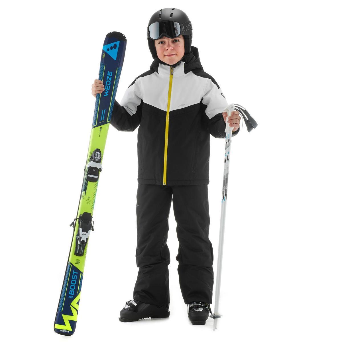 Bild 2 von Skijacke Piste 900 Kinder schwarz/weiß