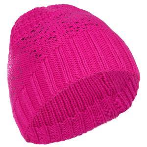 Skimütze Metallic Kinder rosa