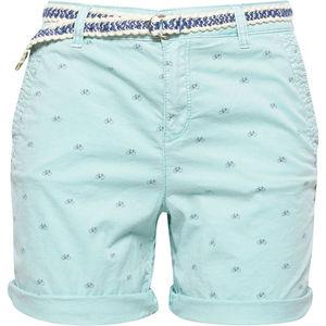 Esprit Damen Shorts mit Gürtel, gemustert