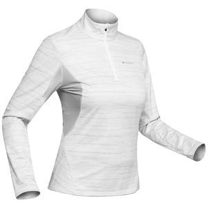 Langarmshirt Winterwandern SH500 Warm Damen weiß