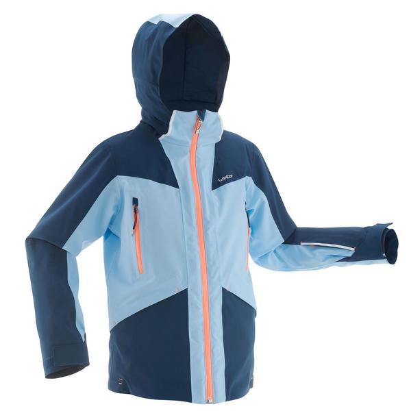 Skijacke Piste 900 Kinder blau