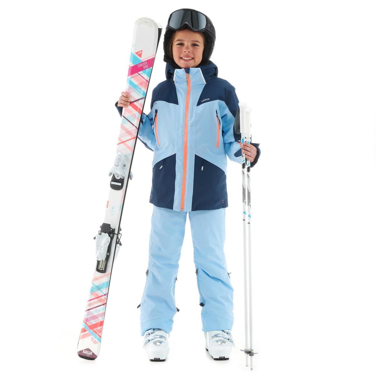 Bild 2 von Skijacke Piste 900 Kinder blau