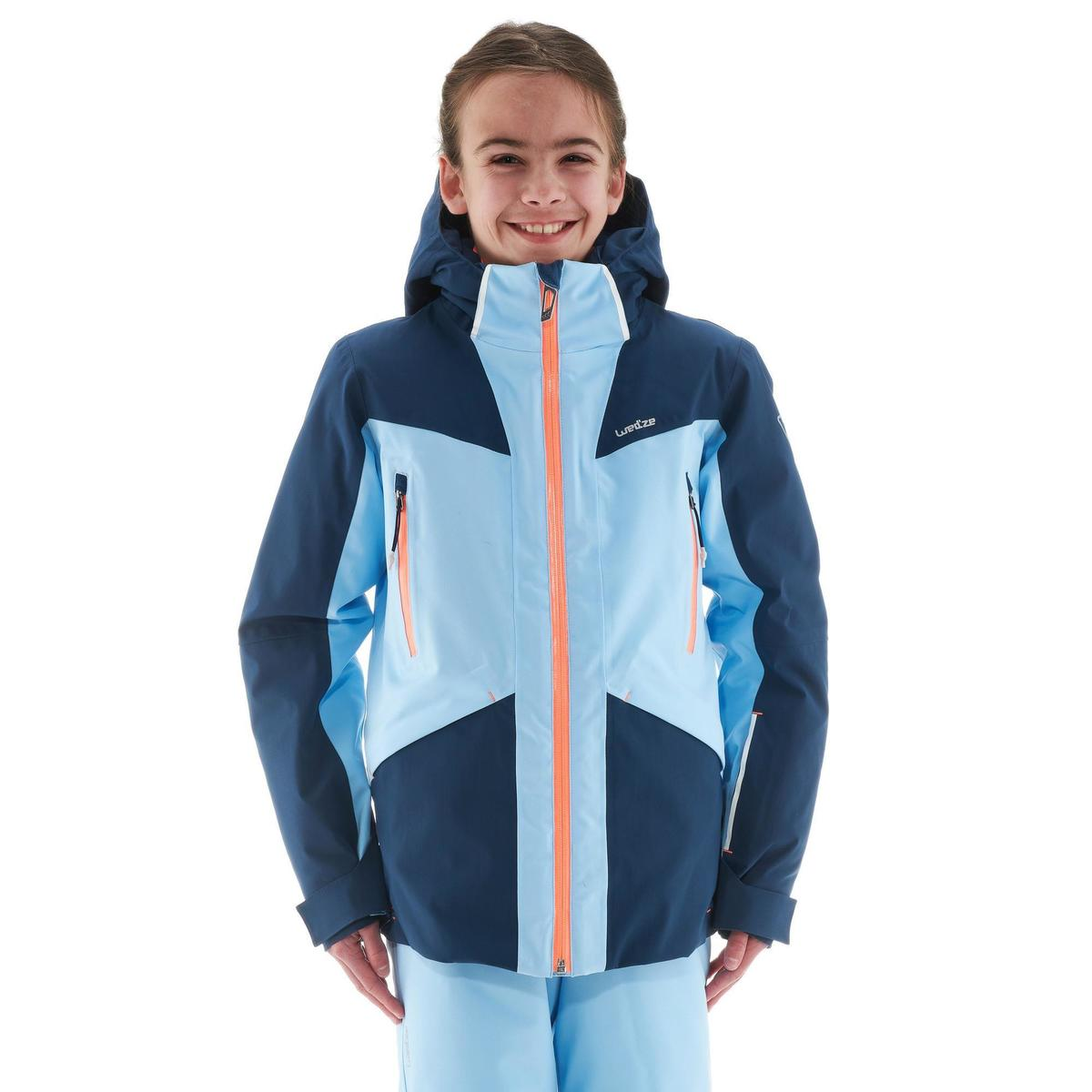 Bild 3 von Skijacke Piste 900 Kinder blau