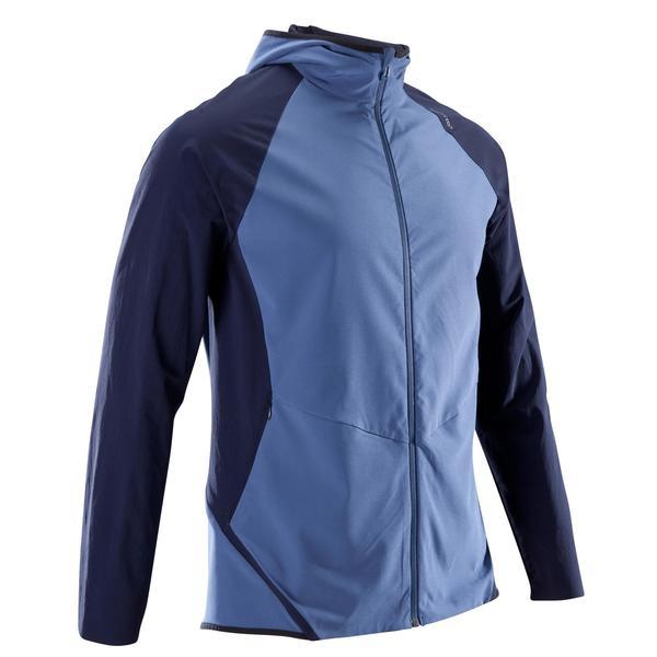 Trainingsjacke Cardio 900 Herren Fitness blau/schwarz