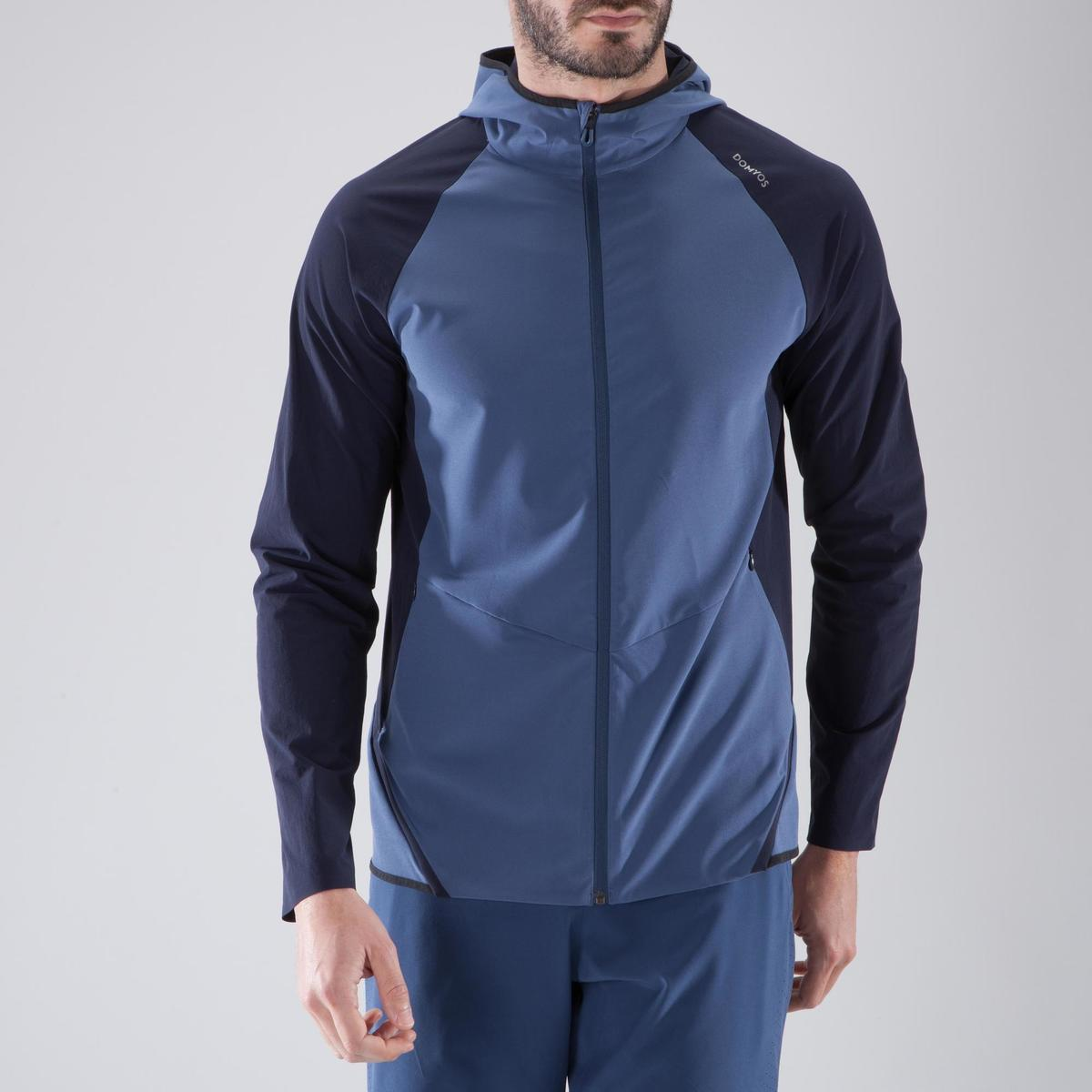 Bild 2 von Trainingsjacke Cardio 900 Herren Fitness blau/schwarz