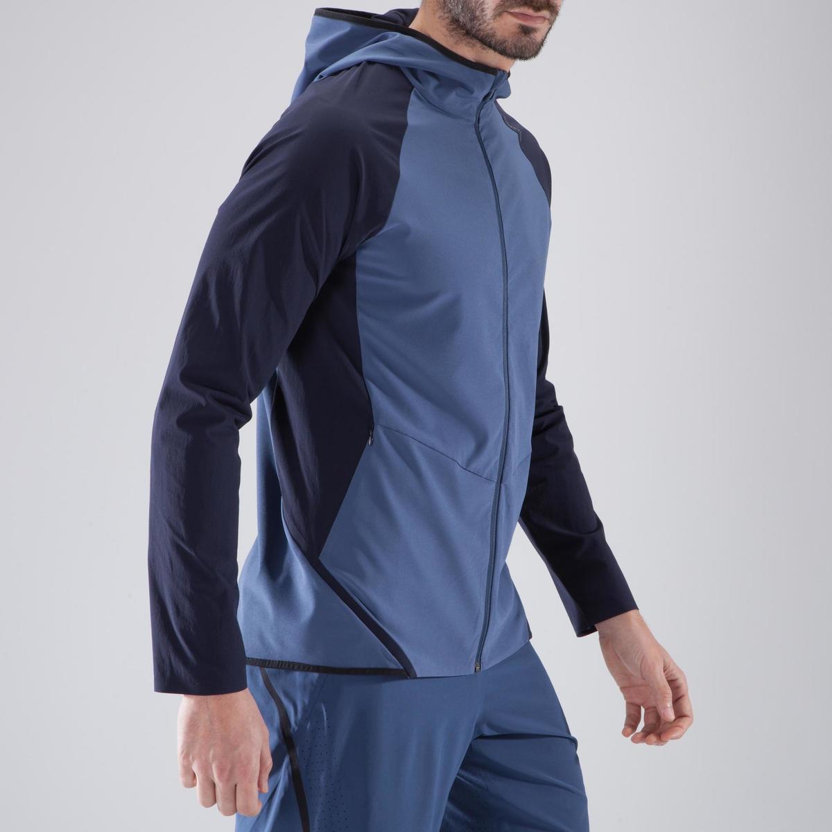Bild 3 von Trainingsjacke Cardio 900 Herren Fitness blau/schwarz