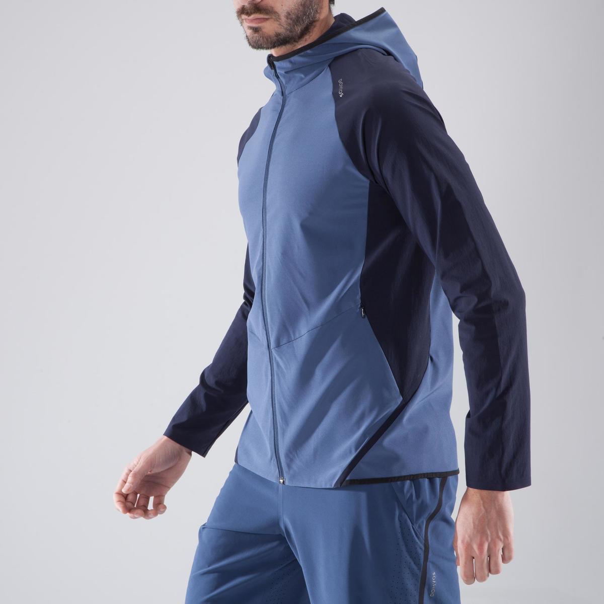 Bild 5 von Trainingsjacke Cardio 900 Herren Fitness blau/schwarz