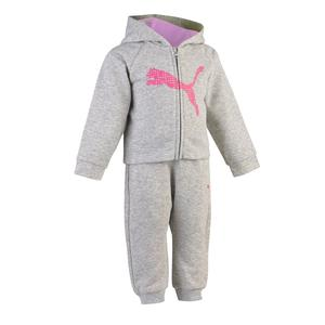 Trainingsanzug Gym Baby grau/rosa