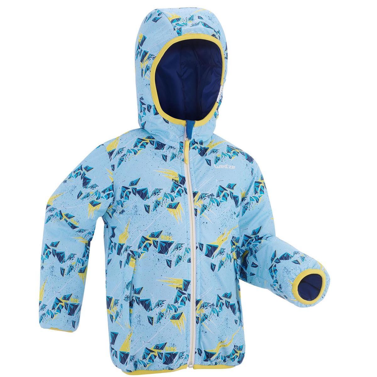 Bild 1 von Skijacke Piste100 warm wendbar Kleinkinder blau