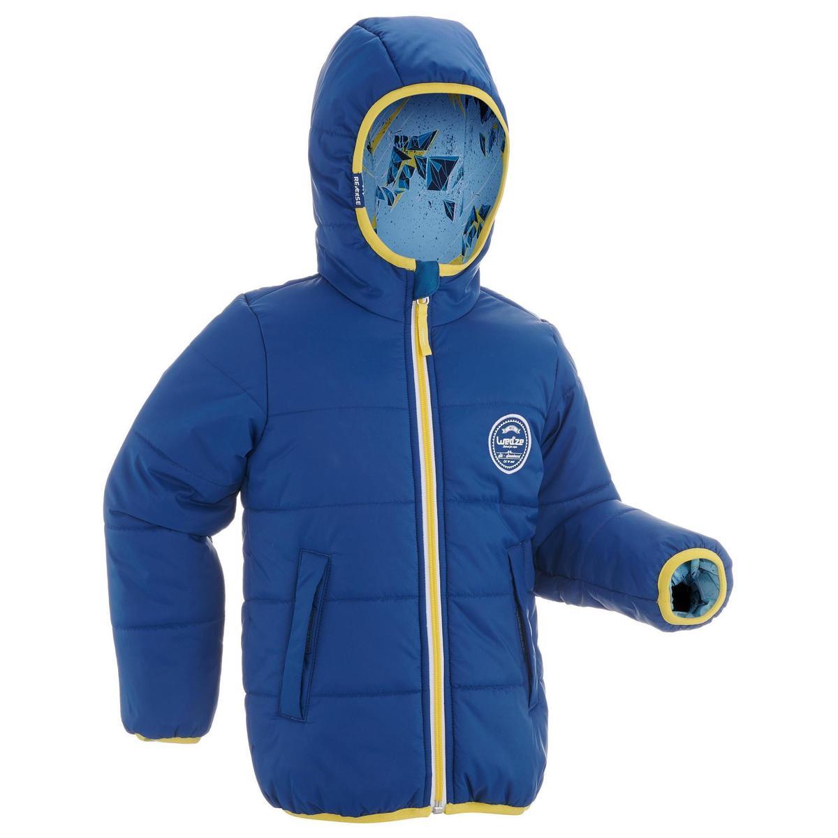 Bild 2 von Skijacke Piste100 warm wendbar Kleinkinder blau