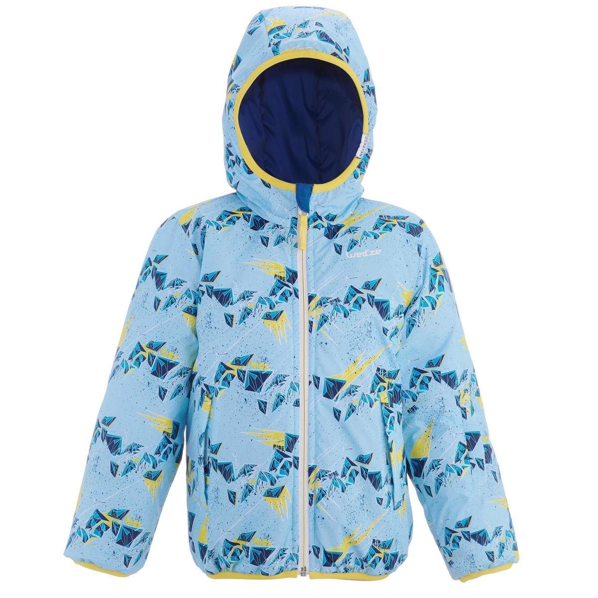 Bild 3 von Skijacke Piste100 warm wendbar Kleinkinder blau