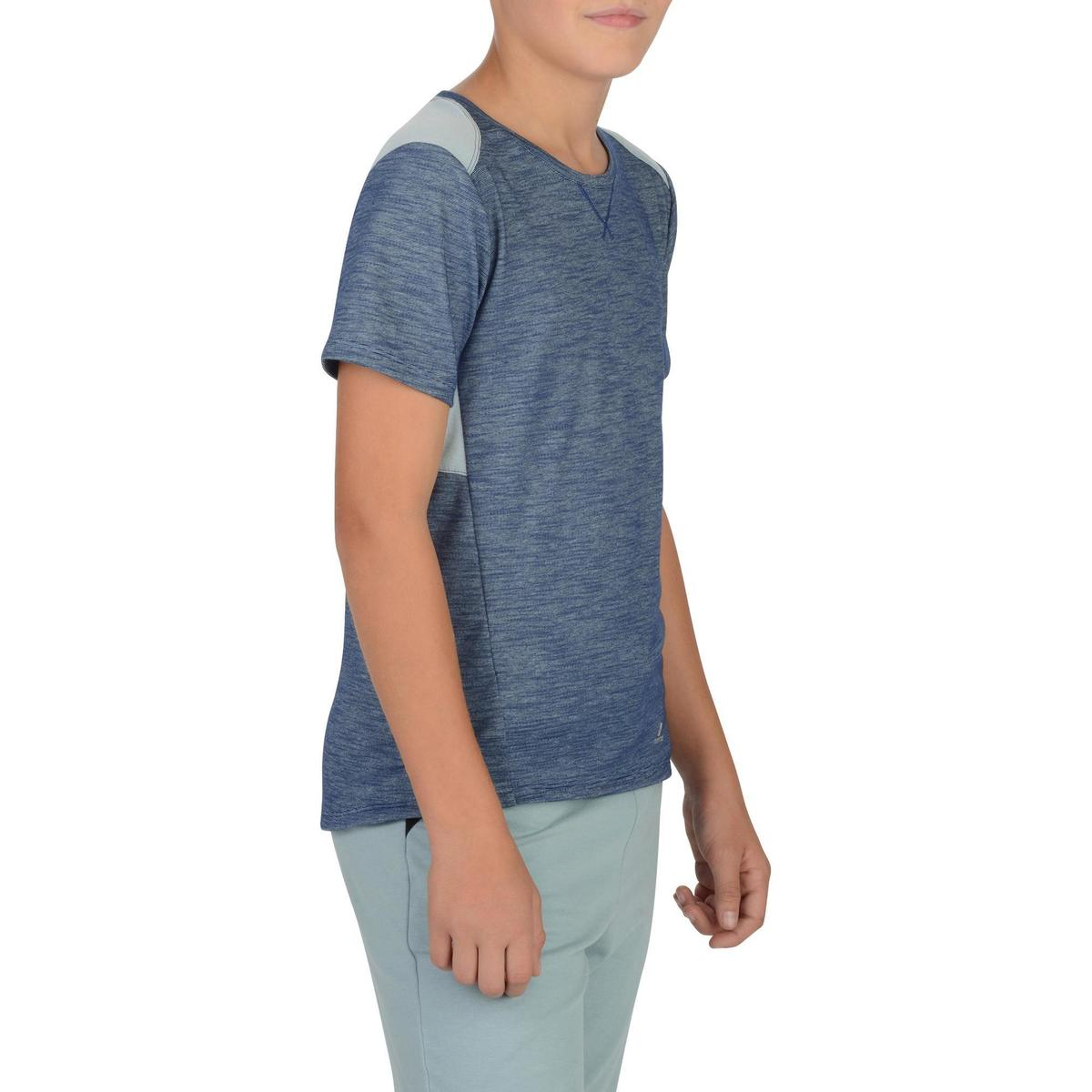 Bild 2 von T-Shirt Kurzarm 500 Gym Kinder grau/blau