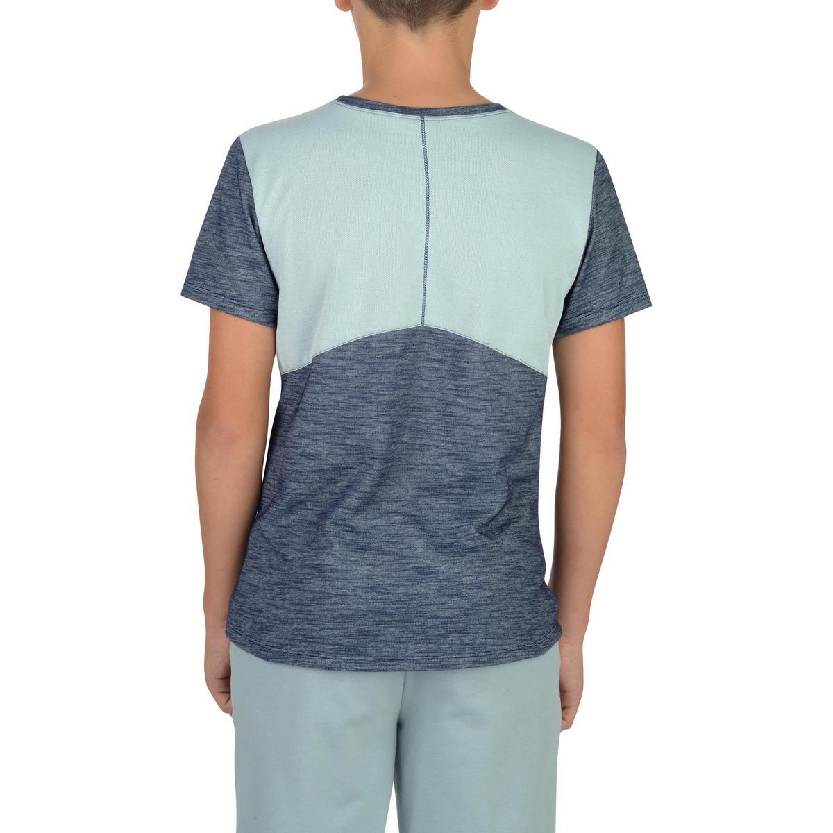 Bild 3 von T-Shirt Kurzarm 500 Gym Kinder grau/blau