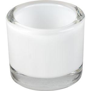 Windlicht Glas 5,7cm, weiß