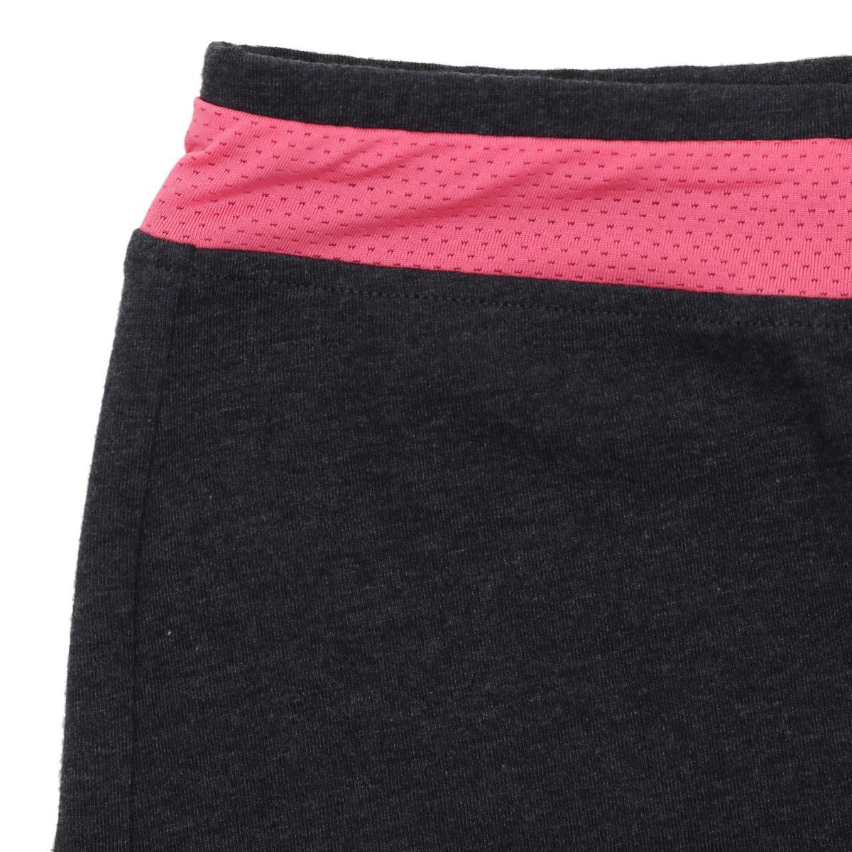 Bild 3 von Sporthose kurz 500 Gym Kinder grau/rosa mit Print