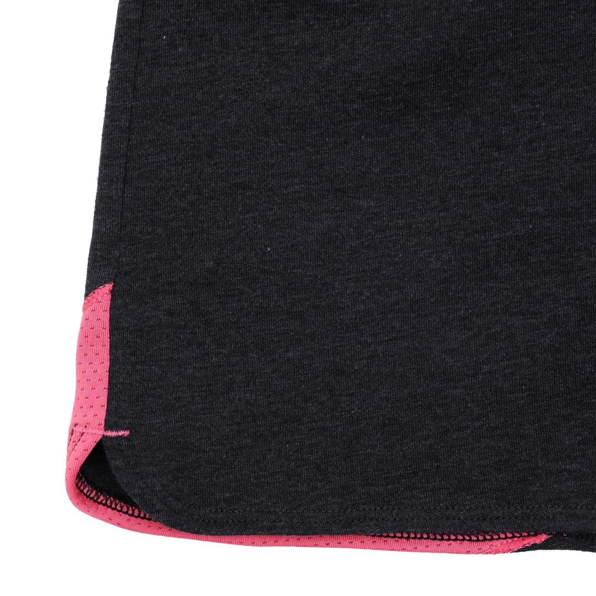 Bild 5 von Sporthose kurz 500 Gym Kinder grau/rosa mit Print