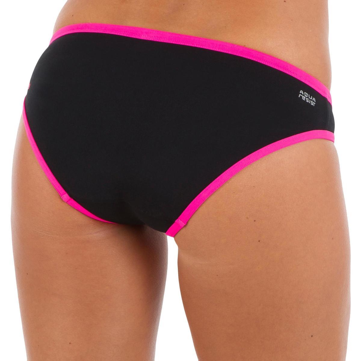Bild 3 von Bikinihose Jade chlorresistent Damen schwarz/rosa