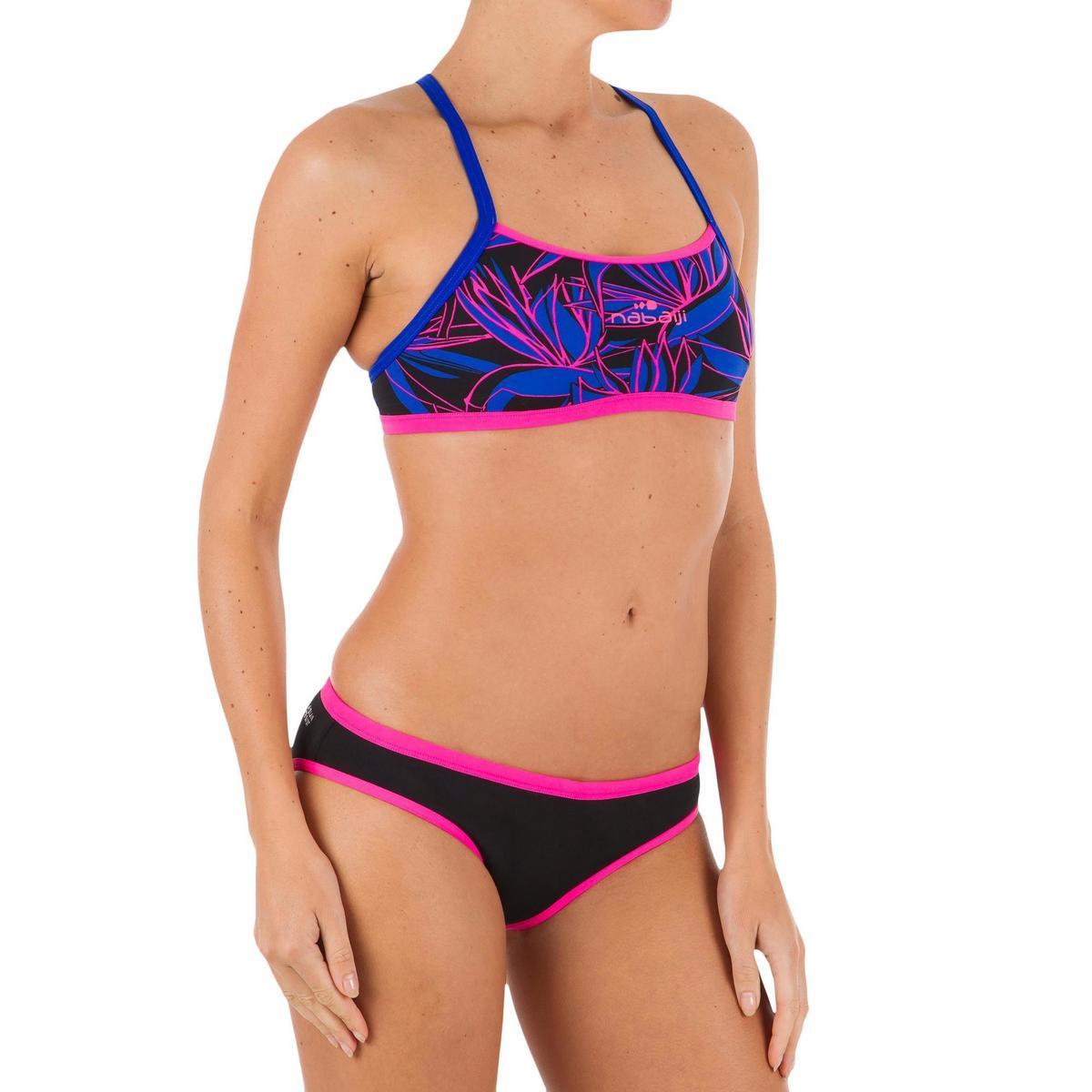 Bild 4 von Bikinihose Jade chlorresistent Damen schwarz/rosa