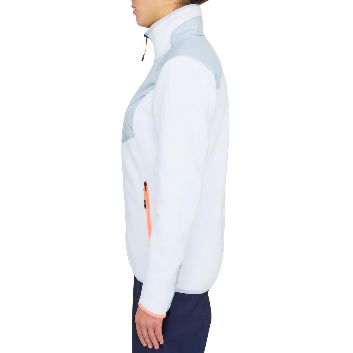 Bild 4 von Fleecejacke Segeln warm Inshore 900 Damen grau/weiß