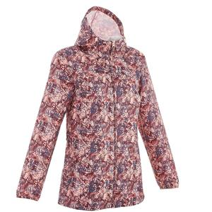 Regenjacke Raincut mit Reißverschluss Damen bordeauxrot