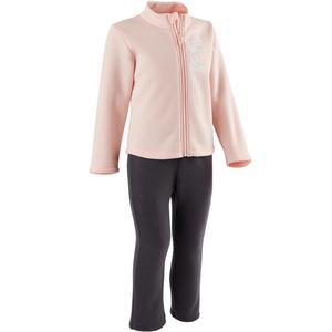 Jogginganzug 100 Warm´Y Zip Babyturnen rosa bedruckt