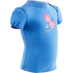 Badeanzug Tankini Top 100 Baby Mädchen Print Einhorn blau