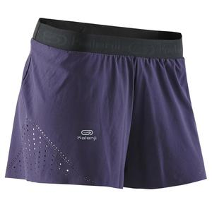 Laufshorts Tights Kiprun Light Damen violett