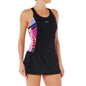 Badeanzug Vega Skirt Damen schwarz